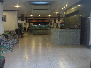 reception desk and lobby